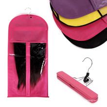 Сумка для хранения наращивания волос с вешалкой для парика