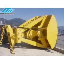 Équipement de manutention mécanique avec quatre cordes Grab de charbon de clamshell (4-60T)