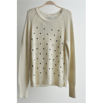 Cashmere Blend Patterned Pullover Knitted Sweater