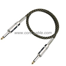 DML Series Professional Guitar Cable Jack to Jack Black Nylon Jacket