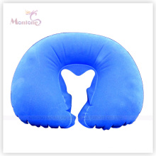 Comfortable PVC Flocking Inflatable Neck Air Pillow 40*28cm