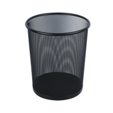 Black Metal Waste Bin