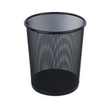 Черный металлический мусорный бак