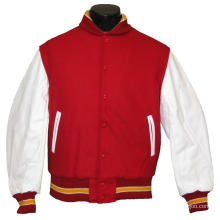 most fashion high quality crop varsity jacket