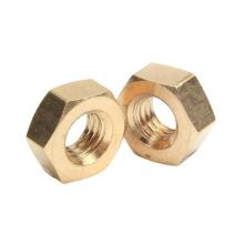 Stock d'OEM de cuivre d'écrou hexagonal en laiton d'ANSI hexagonal