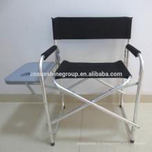 Chaise de directeur aluminium pliante portable