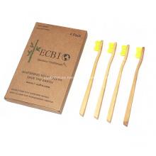 Cepillo de dientes de bambú Moso biodegradable personalizado para niños y adultos