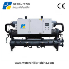 -10c 630kw Low Temperature Water Cooled Glycol Screw Chiller for Plastics Industry