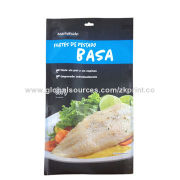 600g Quad-side Seal Plastic Bags for Sea Frozen Food Packaging Bag, with Tear Mouth and Hang HoleNew