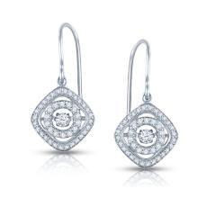 La plata de la joyería 925 del diamante del baile cuelga los pendientes al por mayor