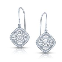 Dancing Diamond Jewelry 925 Silver Dangle Earrings grosso
