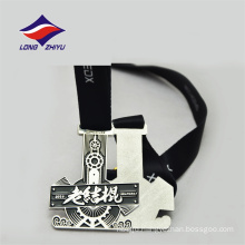 Personal silver colour nice design China suppliers colour enamel medal