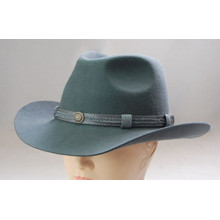 Nuevo estilo de moda Fedora Wide Brims Felt Hat para las mujeres (cw0007)