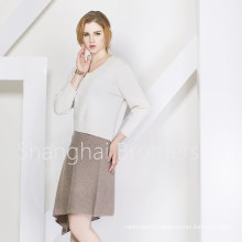 Lady Fashion Cashmere Dress Sweater