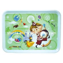 100% меламин посуда-детские столовые приборы лоток/один-класс меламин посуда (pH9013)