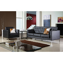 Modern Nordic Style Classial Simple Office and Living Room Leather Sofa