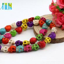 Factory Sales M0008 Mix Farbe Schädel Form tibetischen Türkis Stein Halskette Iran Türkis Edelstein synthetische Türkis Drop