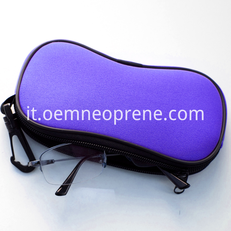 Glasses Case with Carabineer Clip