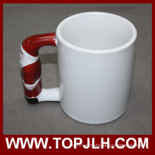 Gift Sublimation Ceramic Special Handle White Mug