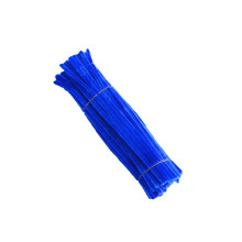 Wholesale DIY Children Education Toy 30cm*6mm Single metal wire chenille stem colorful pipe cleaner for kids