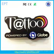 Hot Personalizado PVC / Silicon marca em forma USB Stick (EG568)
