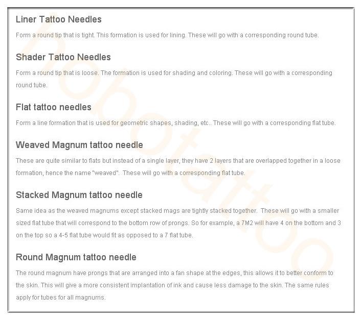 Professional Sterilized Disposable Tattoo Needle Supply