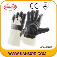 Темная кожаная кожа Рабочие перчатки промышленной безопасности (310022)