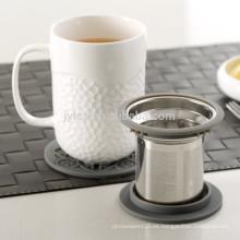 Taza de té de 400cc con filtro y tapa