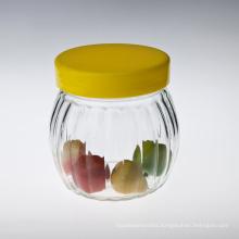Pumpkin Candy Canister Glass Jar
