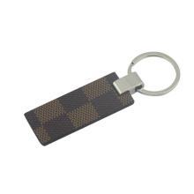 Promocionais metal PU couro chaveiro com chaveiro (f3055a)