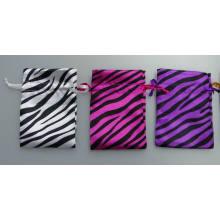 Bolsa de cetim zebra