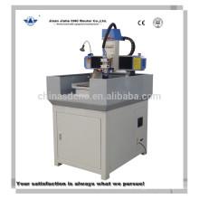 Roteador de cnc máquina pequeno gravador de metal do tamanho de 400 * 400mm e Servo motor