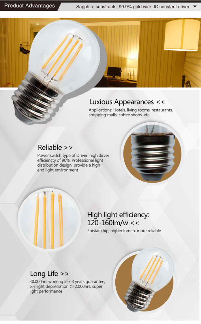 Global 4W LED Filament Bulb