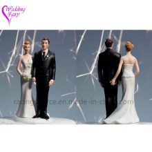 High Quality The Love Pinch Bridal Couple Figurine Caucasian Couple Wedding Cake Topper