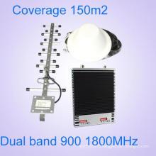 Высокомощный усилитель 2g 3G Двухдиапазонный мобильный сигнал ретранслятора сети 900 1800 МГц Усилитель сигнала