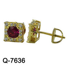 New Design Fashion Earrings Silver Jewelry (Q-7636. JPG)