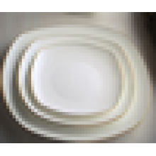 Placa de porcelana blanca para hotel y restaurante