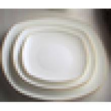 White square hotel & restaurant porcelain plate