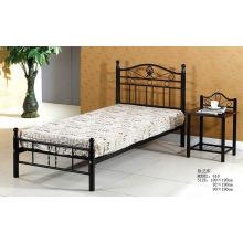 Черная металлическая удобная простая кровать (618 #)