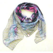 Große Voile quadratische Schals Hijabs