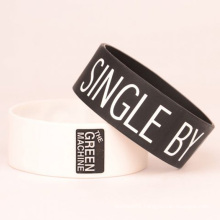 Golden Supply Rubber 1 Inch Wristbands with Printed Logo