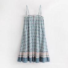 Good Quality Women Floral Print Summer Dress