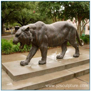 Outdoor Life Size Bronze Tiger Statue For Sale