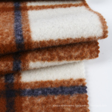 Classic check textiles 400gsm woven coat fabric wool plaid fabric for suit