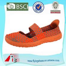 Porzellan Fabrik Frauen handgemachte gewebte Webart Schuhe mit Gurt