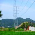 220kv Torre de transmisión de energía de línea recta de doble circuito
