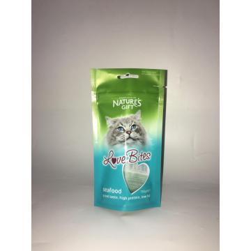 Embalagem De Alimentos De Gato Stand Up Bag With Zipper