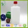 OEM design HDPE round empty plastic bottle chemicals