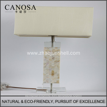 High Quality low price chinese seashell table lamps with crystal pedestal