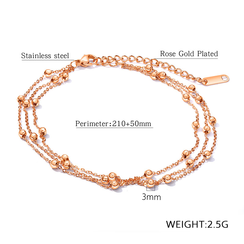 rose gold anklet chain